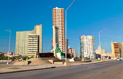 Modern buildings on the city of Havana. On a summer day Royalty Free Stock Images