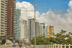 Modern Buildings Cityscape Scene Natal Brazil. Cityscape day scene of modern apartment buildings in Natal, Brazil stock photography