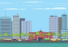 Modern buildings cityscape Royalty Free Stock Photo