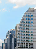 Modern buildings. With clouds and blue sky background Royalty Free Stock Photo