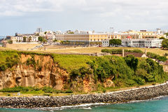 Modern Buildings on Coastal Clifftop Stock Photo