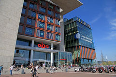 Modern buildings of Conservatory and Library, Amsterdam Stock Images