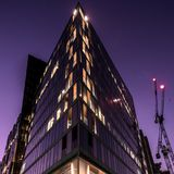 Modern Buildings and a Crane 01 stock photos