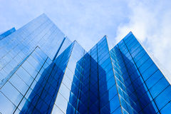 Modern buildings. Dark blue modern buildings background Stock Photography