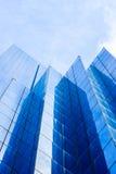 Modern buildings. Dark blue modern buildings background Royalty Free Stock Photography