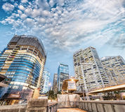 Modern buildings of Darling Harbour, Sydney. City night skyline Stock Image