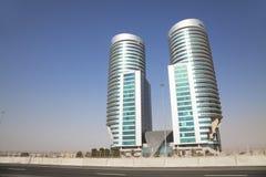 Modern Buildings in the Desert, Dubai, UAE. Image of a modern building in the Dubai desert, United Arab Emirates Stock Photos