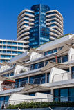Modern Buildings Designs Coastline Royalty Free Stock Image
