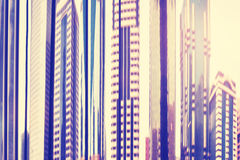 Modern buildings distorted and blurred view. Stock Photography