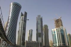 Modern buildings in Doha Stock Photos
