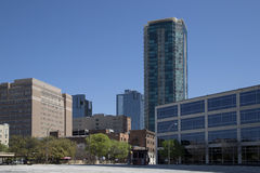 Modern buildings in downtown Fort Worth stock image