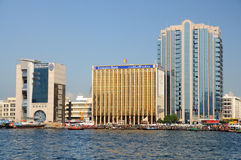 Modern Buildings at Dubai Creek Royalty Free Stock Photography
