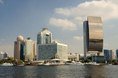 Modern Buildings at Dubai Creek Stock Photo