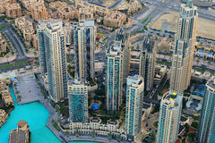 Modern buildings in Dubai Downtown from above Stock Image