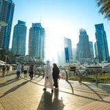 Modern buildings in Dubai Marina, Dubai, UAE Stock Photo