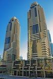 Modern buildings in Dubai Marina Stock Image