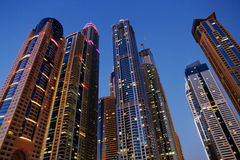 Modern buildings in Dubai Marina Royalty Free Stock Image
