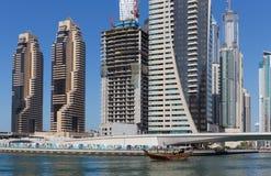 Modern buildings in Dubai Marina Royalty Free Stock Image