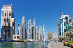Modern buildings in Dubai Marina Royalty Free Stock Photography
