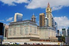 Modern buildings of Dubai World Trade center Stock Photos