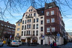 Modern buildings in Dusseldorf, Germany. Architecture details of Royalty Free Stock Image