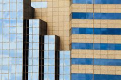 Modern buildings. Effect geometric background. Royalty Free Stock Photos