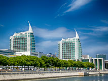 Modern buildings at Expo area in Lisbon Portugal. Royalty Free Stock Photo