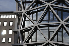 Modern buildings. Exterior abstract facade architectural detail Royalty Free Stock Photography