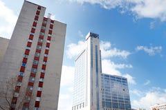 Modern buildings facade in Katowice, Poland Royalty Free Stock Photo