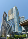 Modern Buildings form the skyline near the cruise port Vancouver Stock Photography