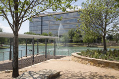 Modern buildings of  Hall Park in city Frisco Royalty Free Stock Image