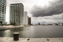 Modern buildings in the harbour of Antwerp Royalty Free Stock Image
