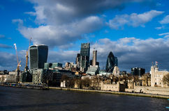 Modern buildings in the hearth of london City Royalty Free Stock Images