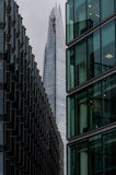 Modern buildings in the hearth of london City. Modern building in the hearth of London City. Towers of glass and steel where thousand of people everyday works Royalty Free Stock Photos