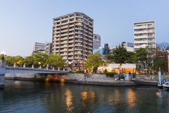 Modern buildings in Hiroshima Stock Image