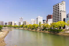 Modern buildings in Hiroshima Stock Images