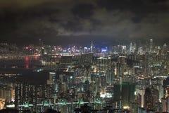 Modern Buildings in Hong Kong. In night time Stock Image