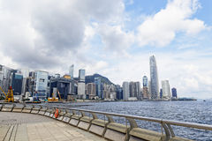 Modern Buildings in Hong Kong finance district Royalty Free Stock Images