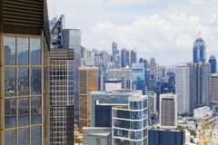 Modern Buildings in Hong Kong finance district Stock Image
