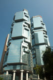 Modern buildings in Hong Kong. HONG KONG - NOVEMBER 1: Lippo Centre in Admiralty on November 1, 2014. The Lippo Centre is a twin-tower skyscraper complex Royalty Free Stock Images