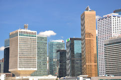 Modern buildings in Hongkong business area Royalty Free Stock Images