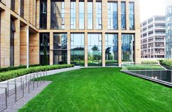 Modern buildings. Innovative building, modern design, sophisticated style,rnnew style, warsaw stock photography