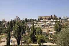 Modern buildings of Jerusalem, Israel Stock Photo