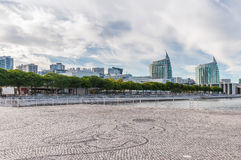 Modern buildings in Lisbon Park of Nations Royalty Free Stock Photography