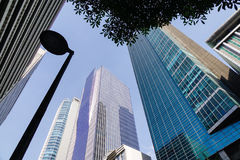 Modern buildings located at Makati in Manila, Philippines Royalty Free Stock Photos