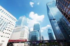Modern buildings in London. Canary Wharf Stock Photos