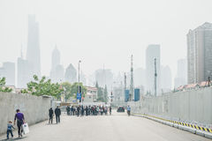 Modern buildings in Lujiazui Finance District, Shanghai, China Royalty Free Stock Photo