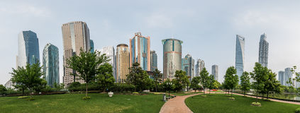Modern buildings in Lujiazui Finance District, Shanghai, China Royalty Free Stock Photography