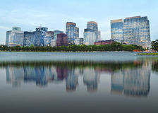 Modern buildings with mirror reflection Royalty Free Stock Image