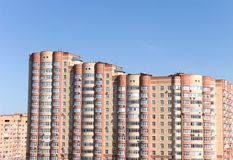 Modern buildings in Moscow stock images